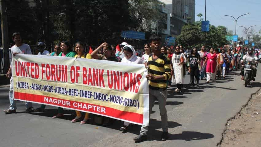 Bank Unions hold protest march; Here's are the list of demands