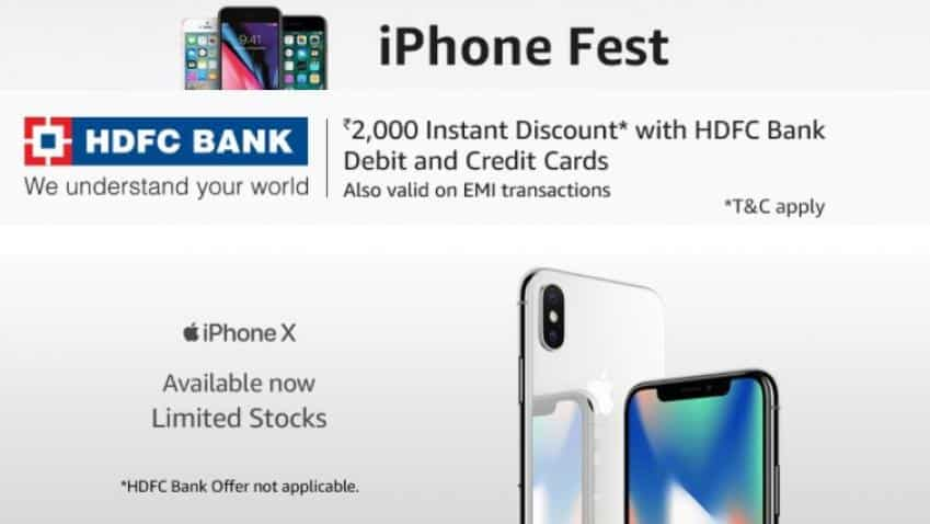 Amazon begins Apple iPhone fest sale on iPhone X, offers iPhone 8 for Rs 59,000