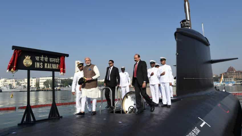 PM Modi commissions submarine Kalvari, says will boost Navy's might