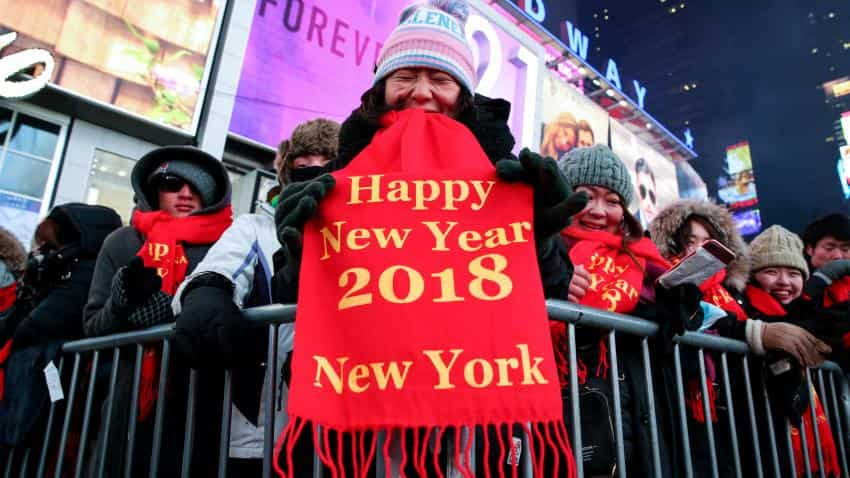 Party hardy: Revelers brave Times Square on a frigid New Year's Eve