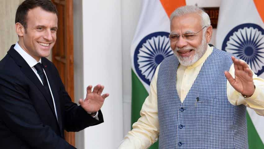 Narendra Modi, Macron meet: India, France ink 14 pacts including on nuclear energy, security
