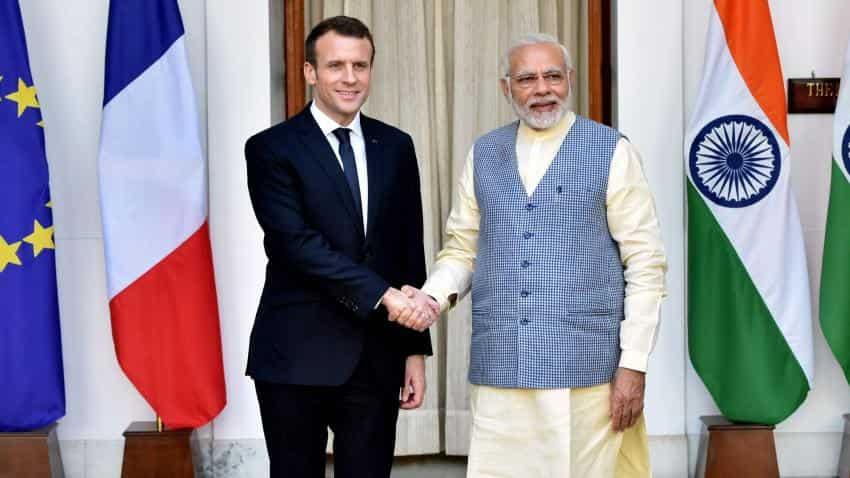Emmanuel Macron takes dig at Donald Trump; hails efforts of India