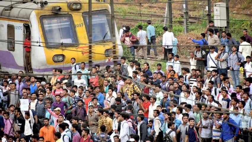 Mumbai central Railways protest: Railway recruitment 2018 row sparks strike; Indian Railways targetted, local trains blocked