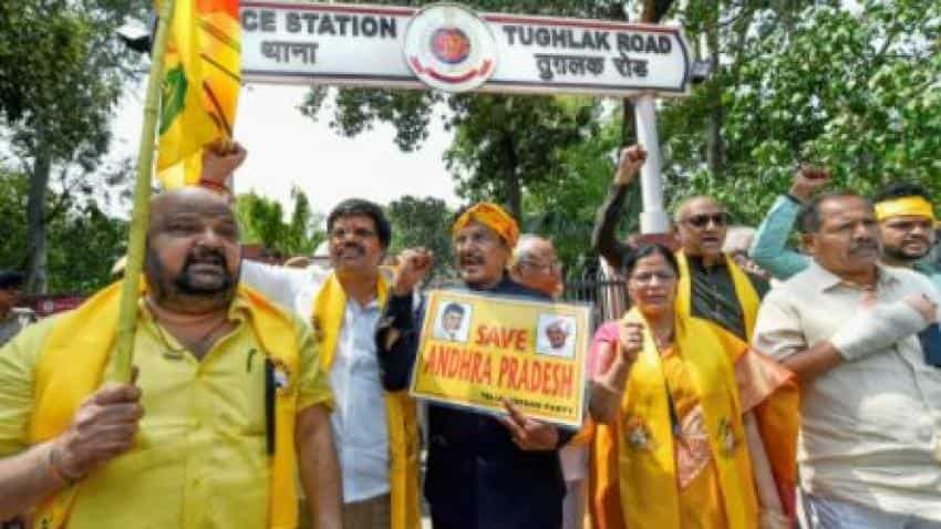 TDP MPs detained while marching towards PM''s residence