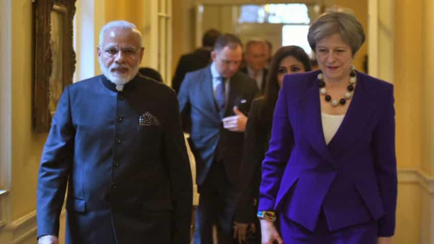 Narendra Modi UK visit: PM meets Theresa May for talks on immigration, counter-terrorism