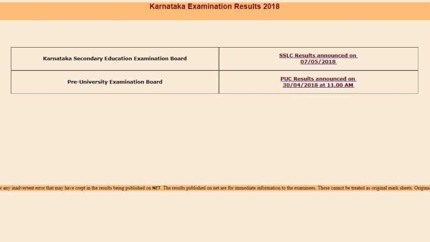 Karnataka SSLC 2018 result declared; check kseeb.kar.nic.in, karresults.nic.in for KSEEB SSLC class 10 result 2018