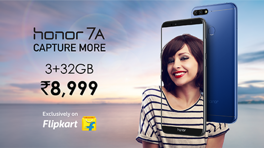 You can now purchase Honor 7A on Flipkart