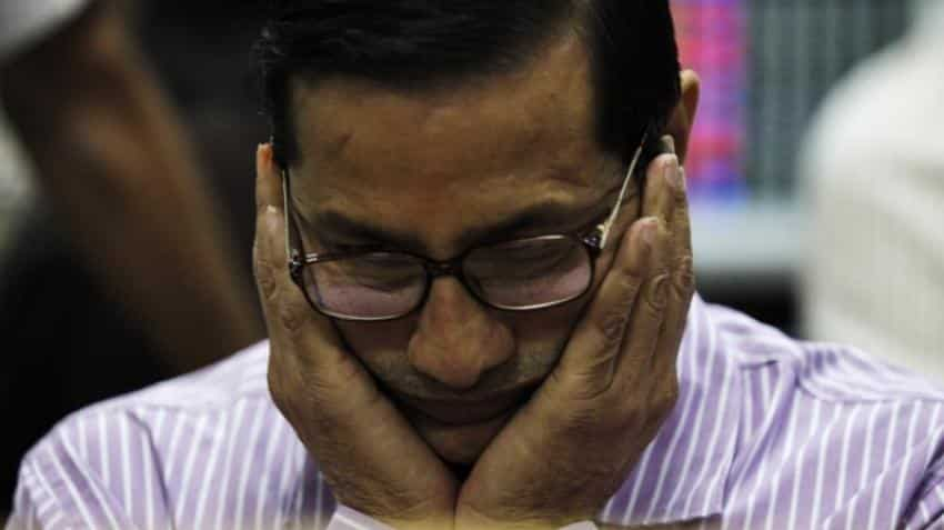 Sensex ends 43 points lower, Nifty at 10,614 ahead of derivatives expiry tomorrow