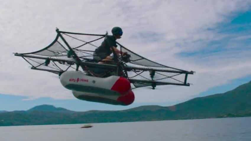 Kitty Hawk Flyer airborne! Google cofounder Larry Page's flying car company reveals vehicle