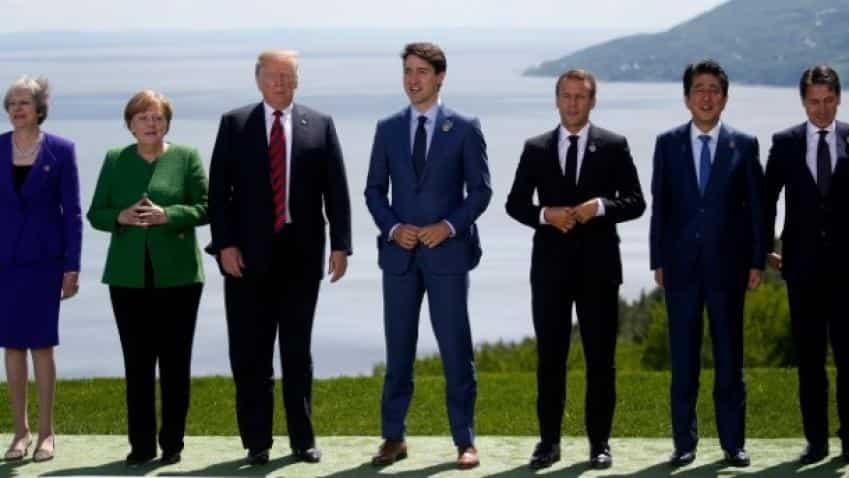 Tensions between Trump, allies subside at G7 summit