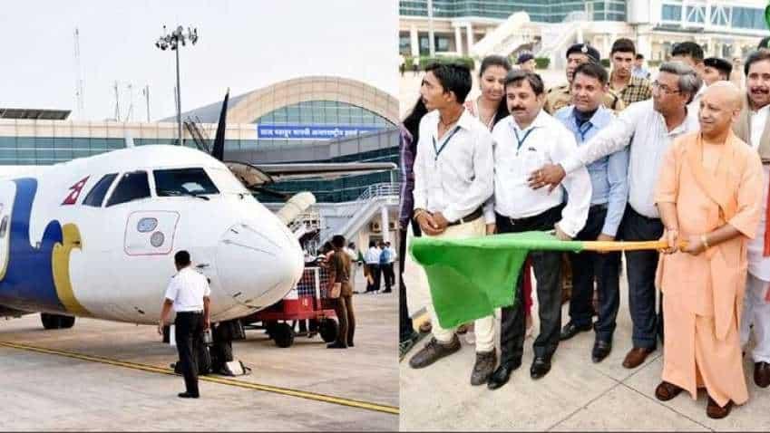 UP CM Yogi Adityanath flags off first direct flight from Kathmandu-Varanasi; all details here