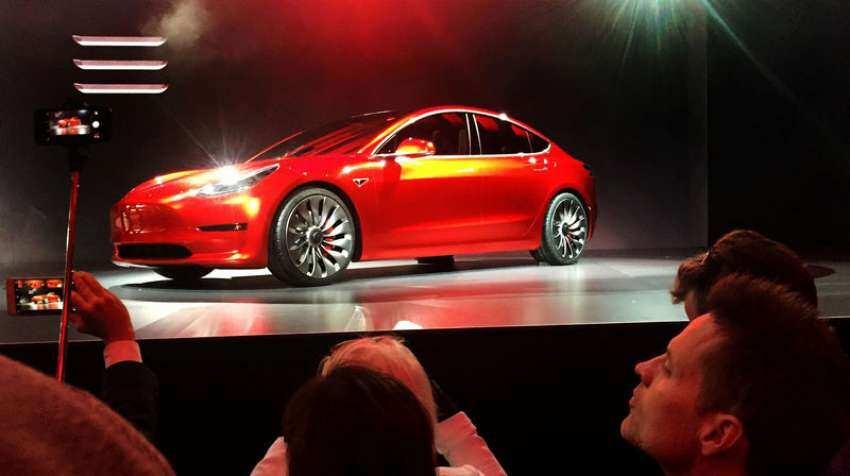 Tesla hits 5,000 Model 3 electric car production target