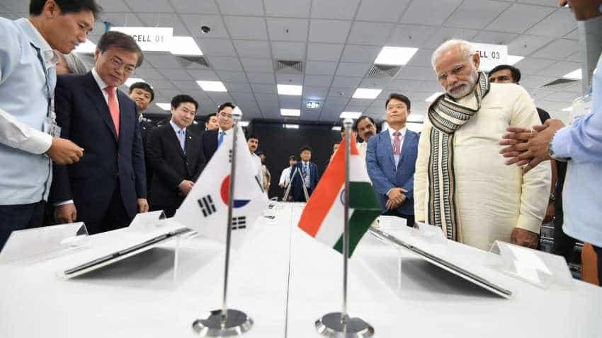 PM Narendra Modi inaugurates world's biggest phone factory by Samsung in India