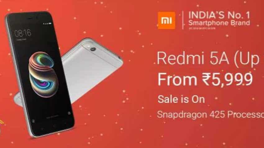 Xiaomi Redmi 5A now on sale on Flipkart; Popular phone available priced at just Rs 5,999