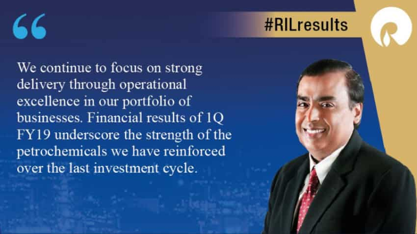 Reliance Industries Q1 results: RIL net profit up 17.9%; reports record petrochemical earnings