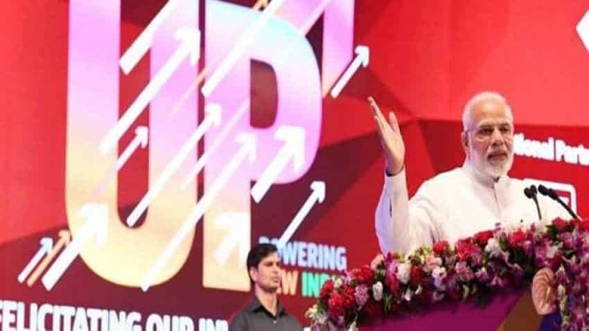 PM Narendra Modi lays foundation of Mobile Open Exchange Zone at WTC Noida