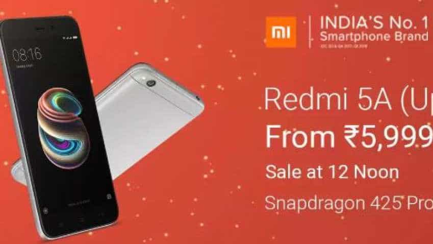Xiaomi Redmi Y2 and Redmi 5A up for sale at 12:00 pm; check out details