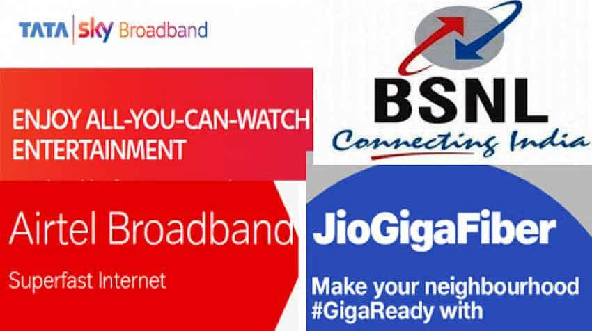 Reliance Jio GigaFiber vs BSNL vs Tata Sky vs Airtel Broadband: Cheapest unlimited data plans compared