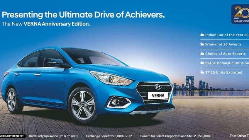 Hyundai Verna anniversary edition launched; check price, specs