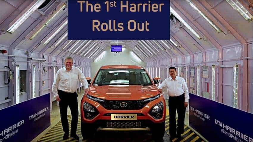 First Tata Motors Harrier SUV rolled out of manufacturing line; this glitzy beauty will mesmerise you