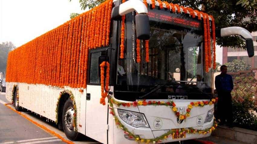 Delhi launches e-bus trial run for pollution-free transport