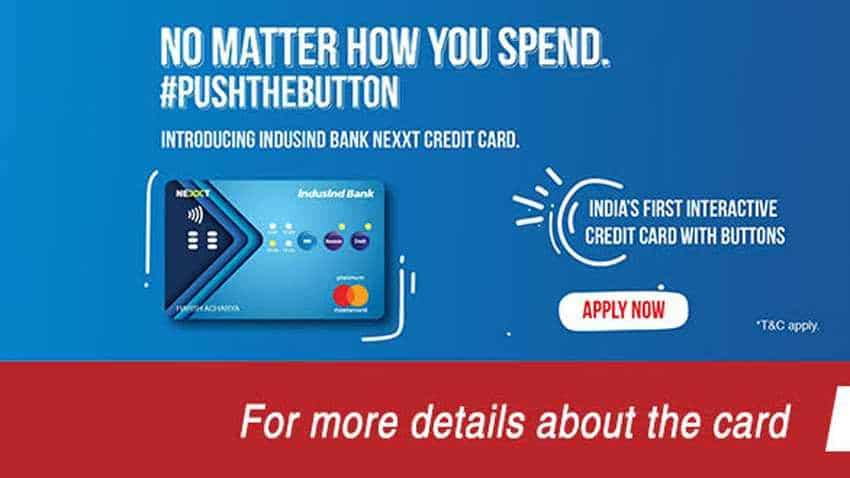 Image result for WOW! This credit card has buttons! India's first such card offers PoS, EMI, even reward points options