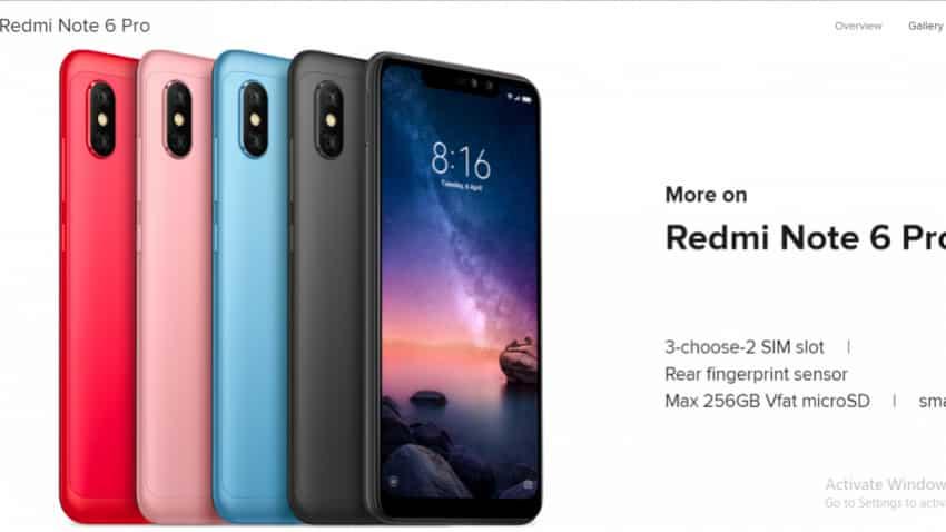 fe12e39c0 Xiaomi Redmi Note 6 Pro sale on Flipkart  Date