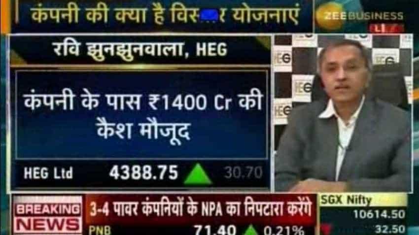 HEG expects 85-90% of Capacity Utilisation in H2FY19: Ravi Jhunjhunwala
