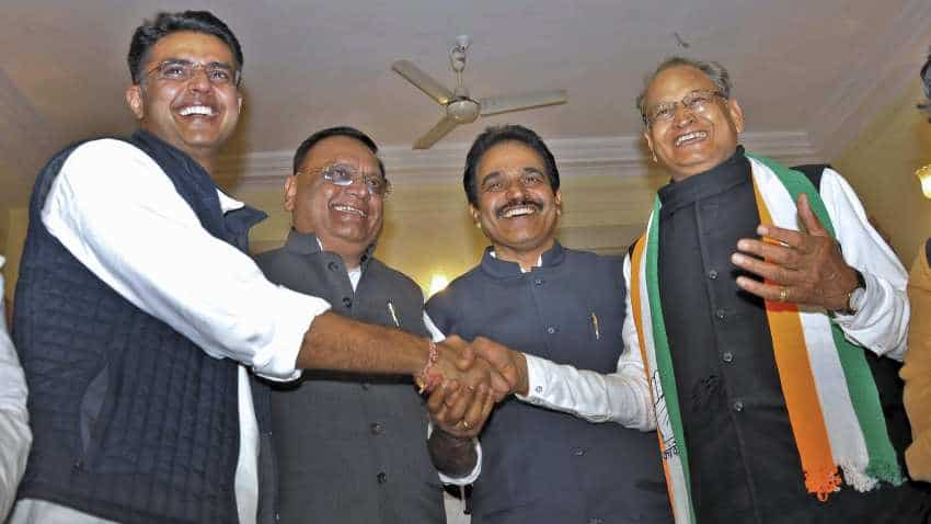 Congress single-largest party in Rajasthan with 99 seats, BJP gets 73