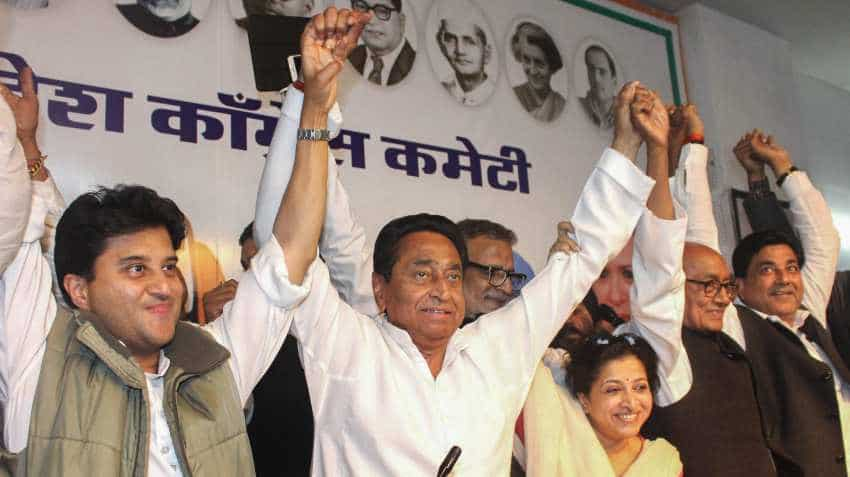 Congress largest party in Madhya Pradesh, Rajasthan, but off majority mark