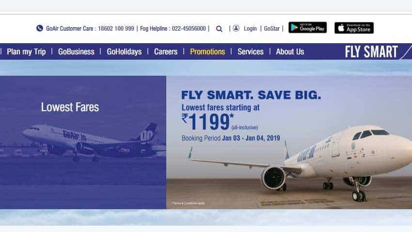GoAir sale: Book flight tickets for just Rs 1,199 - Here is how
