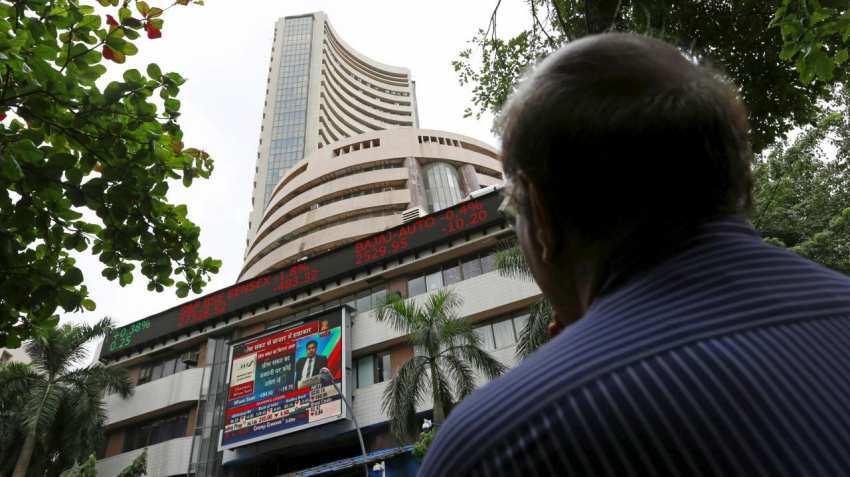 Closing bell: Sensex skyrockets 464 points, Nifty below 10,900 mark