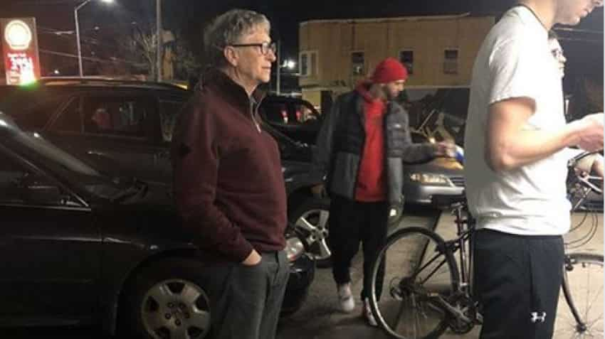Believe it or not, Billionaire Bill Gates stood in queue to get his burger, fries; check image