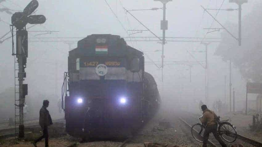 Delhi weather today: 16 trains delayed due to fog, more showers expected