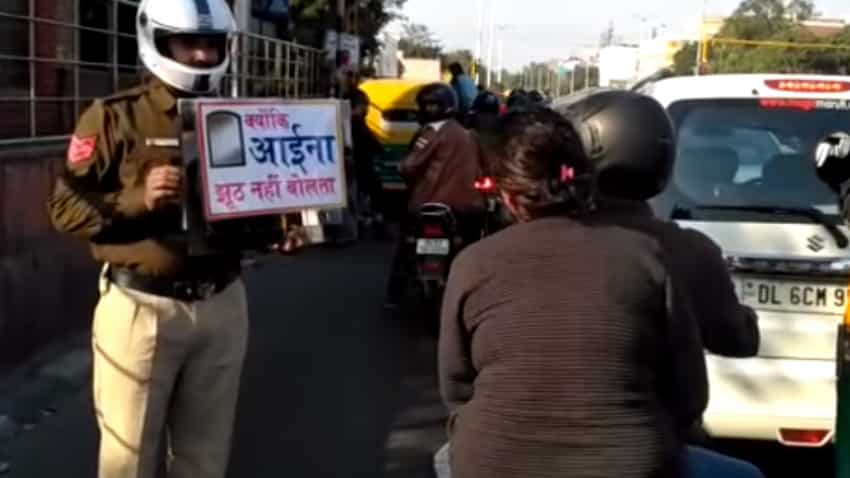 This is Delhi Traffic Police's unique plan for people who are not wearing helmets
