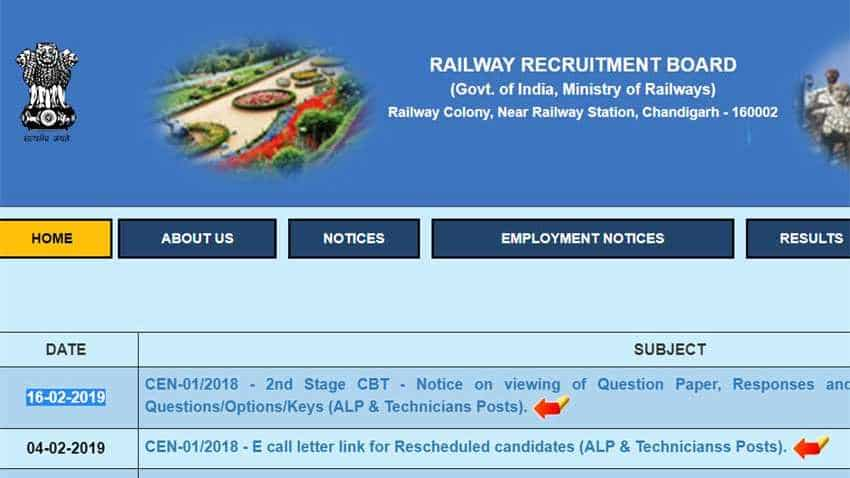 Check RRB ALP and Technician CBT 2 answer key 2019 here
