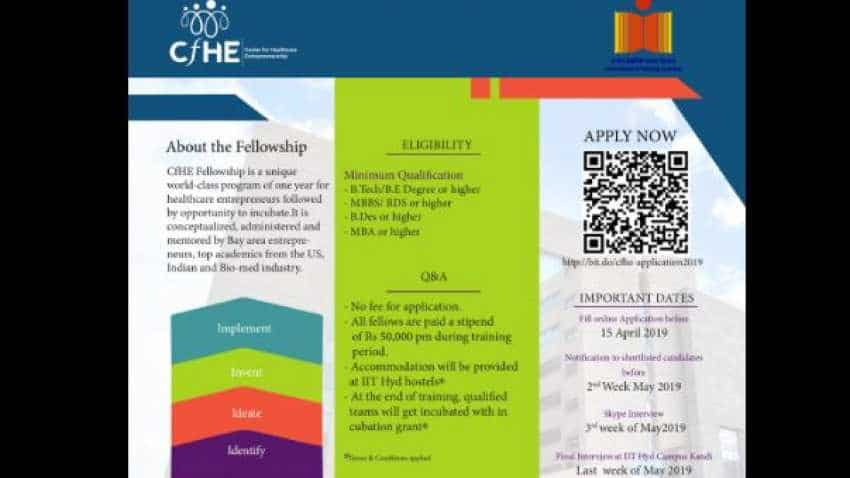 IIT Hyderabad invites applications for fully-paid Fellowship, stipend Rs 50,000 per month