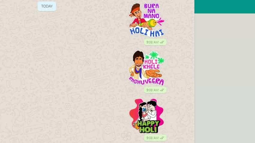 How to send WhatsApp stickers on Holi 2019?