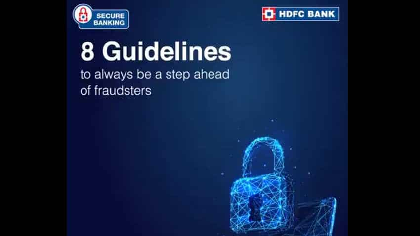 Don't want to lose your money? HDFC Bank issues 8 guidelines for cyber security - Check list