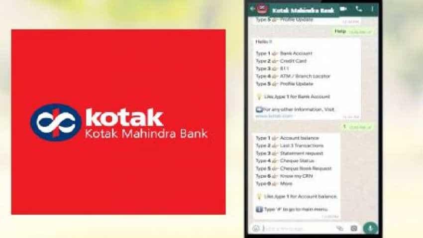Kotak Mahindra Bank Whatsapp Banking Service Here Is How To Use It Zee Business