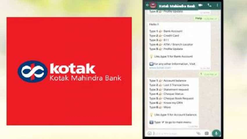 Kotak Mahindra Bank WhatsApp banking service: Here is how to use it
