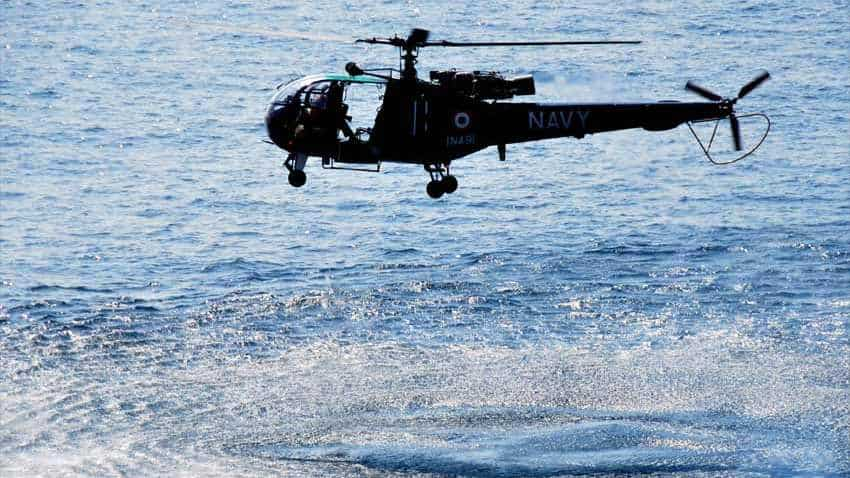 Indian Navy aircrew lands malfunctioning Chetak chopper in middle of Arabian Sea; egresses safely