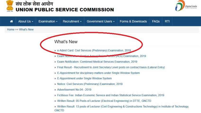 UPSC IAS, IFS Recruitment Examinations 2019: Admit cards available at upsc.gov.in; here is how to download