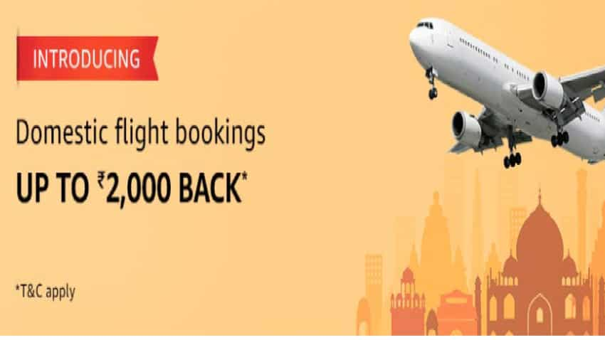 Now, you can book flight tickets on Amazon: Get cashback up to Rs 2,000 - Check process