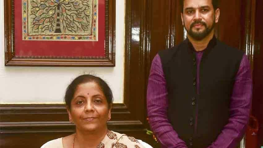 Nirmala Sitharaman Takes Charge As Finance Minister Anurag Thakur