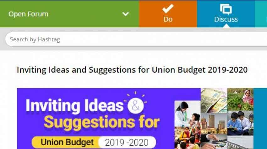Budget 2019: Want to be part of process? Send your ideas to Modi government - Here is how
