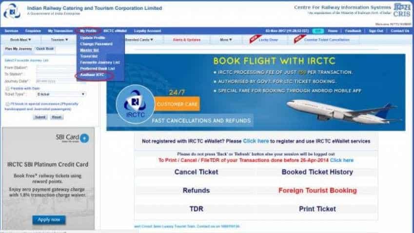 Booking 12 Indian Railways tickets? How to link Aadhaar card with IRCTC account
