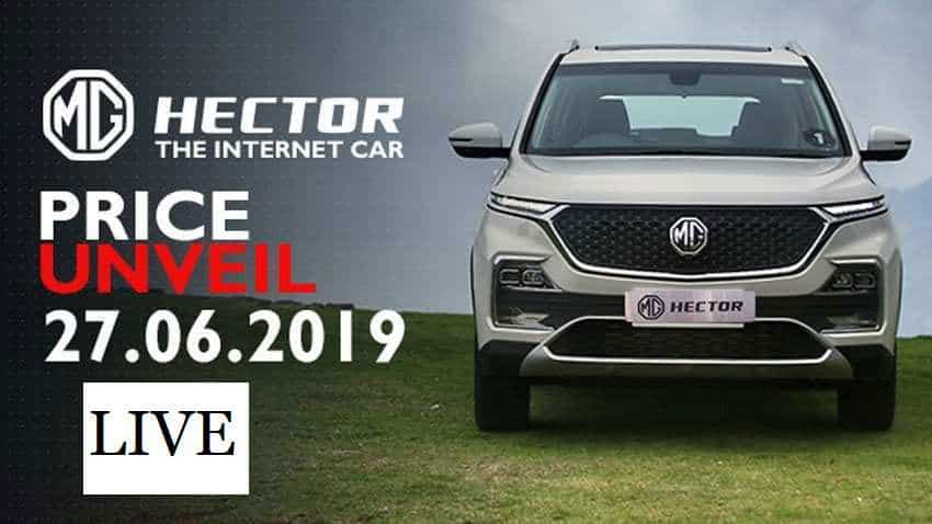 LIVE: MG Hector Launch, Price Announcement - Catch Latest Updates Here