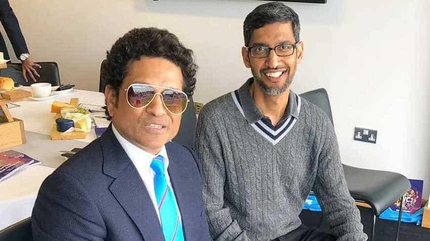When Sachin Tendulkar meets Google CEO Sundar Pichai you get 'Sundar pic-hai'