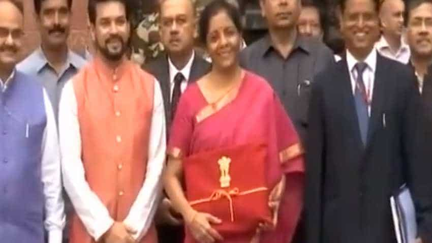 WATCH: Modi govt makes history! No Budget Briefcase! Nirmala Sitharaman carries 'red cover' to Parliament